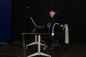 Maria Jose Noain en la Conferencia de la Casa de Cultura el 24 de mayo