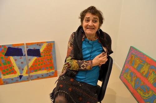 Marta Cardenas, Ekain arte galerian (Argazkia: Nagore Koch)