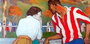 'Diálogo en el campo de sport'. Óleo de Aurelio Arteta. Club Athletic de Bilbao