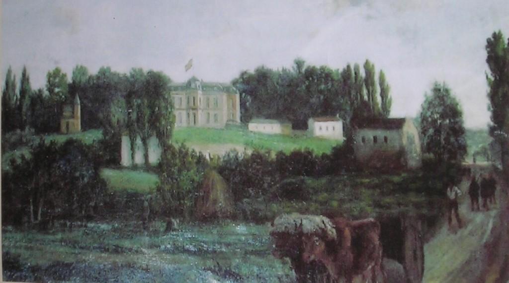 En el cuadro podemos ver la pequeña capilla, la antigua iglesia, Melodi, Alkiza, etc