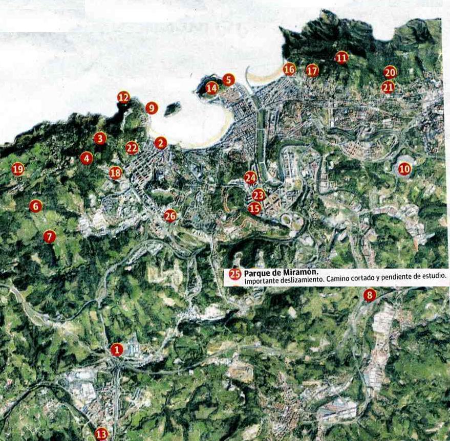 El desprendimiento de Miramón corta de forma traumática la cota 85 del paseo por el Bosque