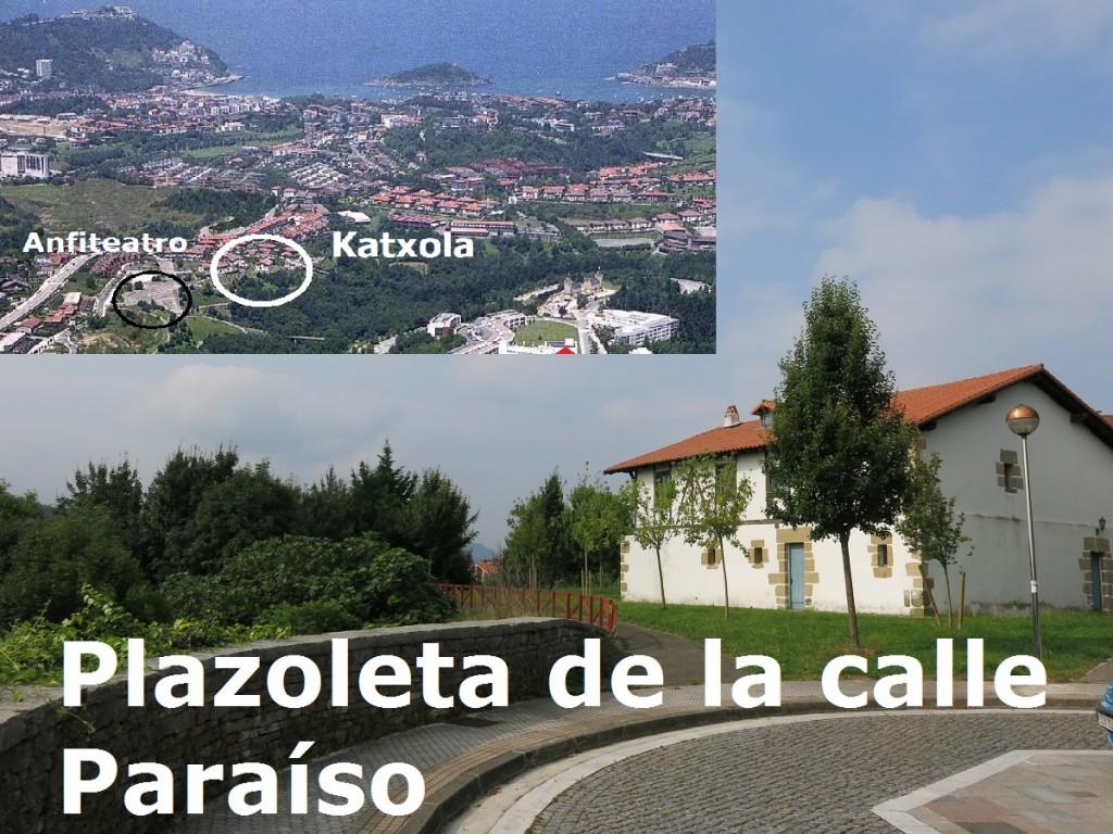 """Katxola está en la calle Paraíso s/n, debajo de la plaza Pakea, próximo al """"anfiteatro"""", próximo al paseo de Oriamendi"""