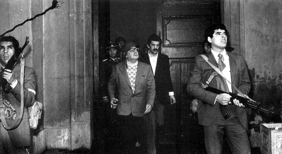 Última imagen del presidente chileno Salvador Allende