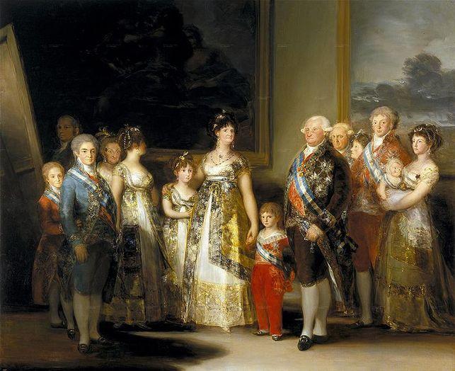 familia de Carlos IV, Francisco de Goya (1.800)