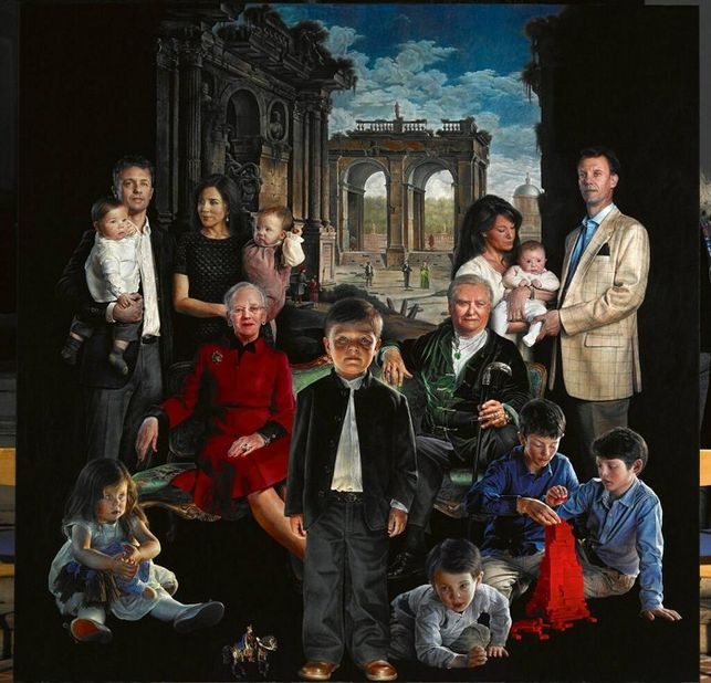 familia real danesa, por Thomas Kluge.