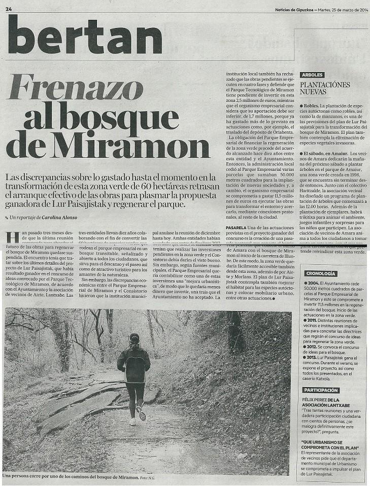 NOTICIAS 25 DE MARZO 2014