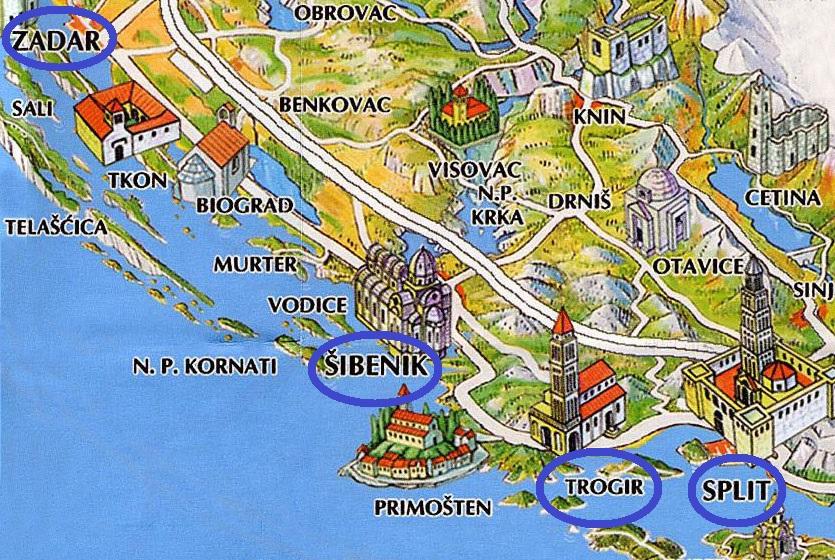 sibenik-area-map