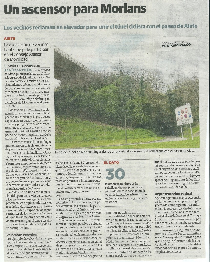 diario vasco 29 de 12 del 14