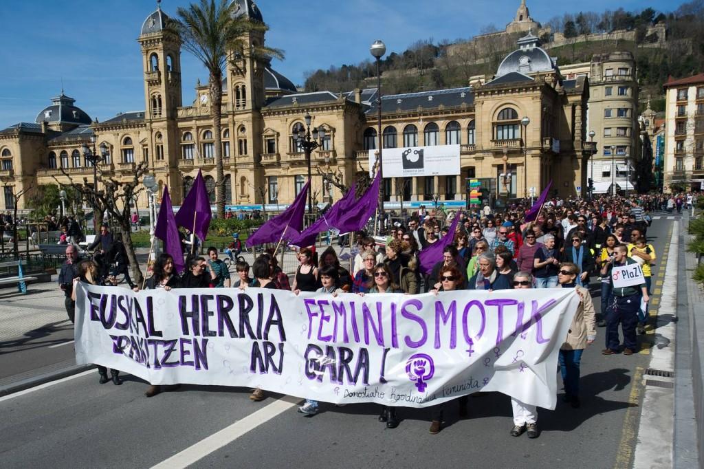 Manifestacion del dia de la mujer 8/03/2015 - foto Jose Ignacio Unanue