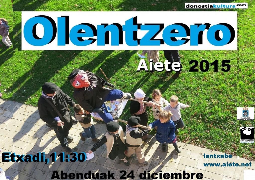 CARTEL OLENTZERO 2015 2