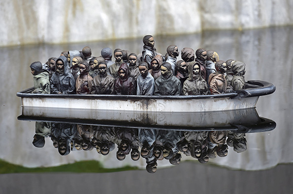 Part of an installation is pictured at 'Dismaland', a theme park-styled art installation by British artist Banksy, at Weston-Super-Mare in southwest England, Britain, August 20, 2015. REUTERS/Toby Melville      TPX IMAGES OF THE DAY :rel:d:bm:GF10000177654