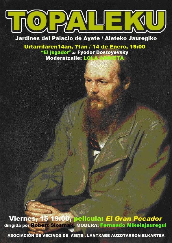 Cartel anunciador de la tertulia celebrada en el TOPALEKU en enero de 2010